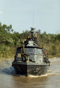 Fast patrol craft PCF-38 on Cai Ngay Canal in 1970