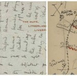Collage of letters, sketches and maps from writers during the First World War