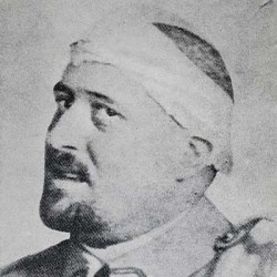 Guillaume Apollinaire in spring 1916 after the shrapnel wound to his temple
