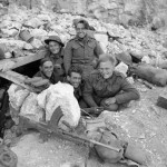 Men of the Royal West Kent Regiment in a dugout on Monastery Hill at Cassino, Italy, 26 March 1944